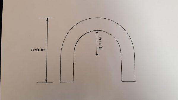 Alu bocht 180 graden 16 mm-1433