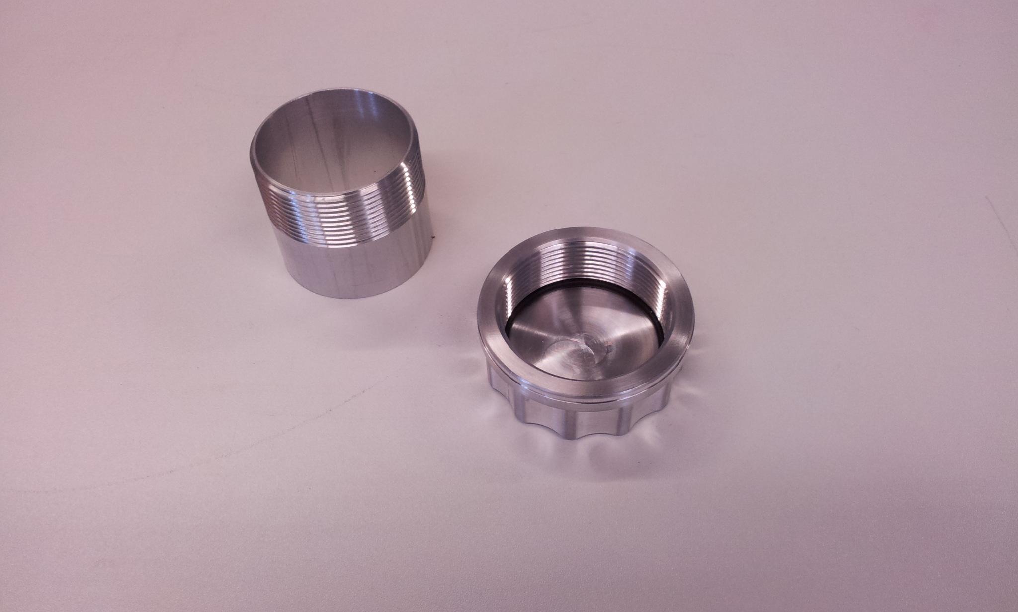 """Tankdop aluminium 2"""" bsp L= 64 mm-0"""