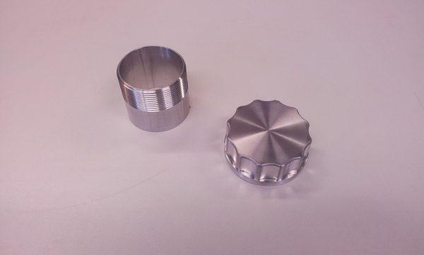 """Tankdop aluminium 2"""" bsp L= 124 mm-1138"""