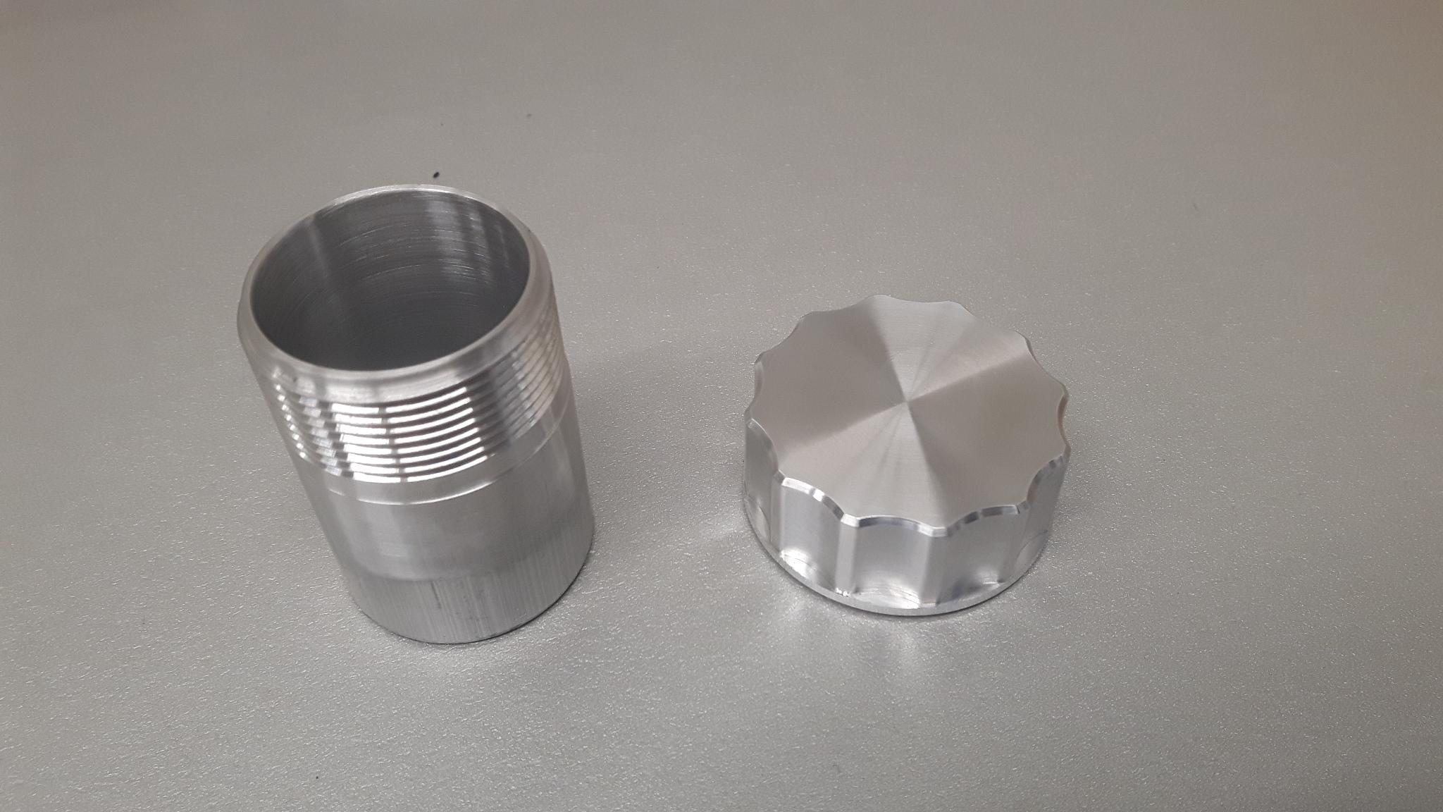 Tankdop set aluminium Ø 42 mm L= 70 mm-0
