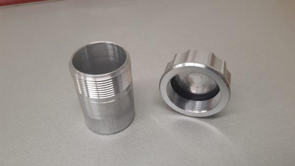 Tankdop set aluminium Ø 42 mm L= 70 mm-1223