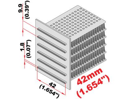 Radiateur koelblok 710 x 302 x 42 mm -1247
