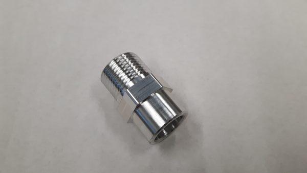 Aluminium airco las / soldeer nippel 7/8-14 UNF-1288