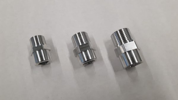 Aluminium airco las / soldeer nippel 5/8-18 UNF-1280