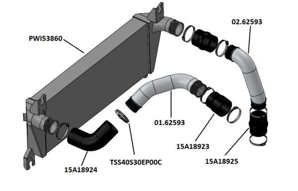 Ford Ranger PX 3,2 TD intercooler kit.-1255