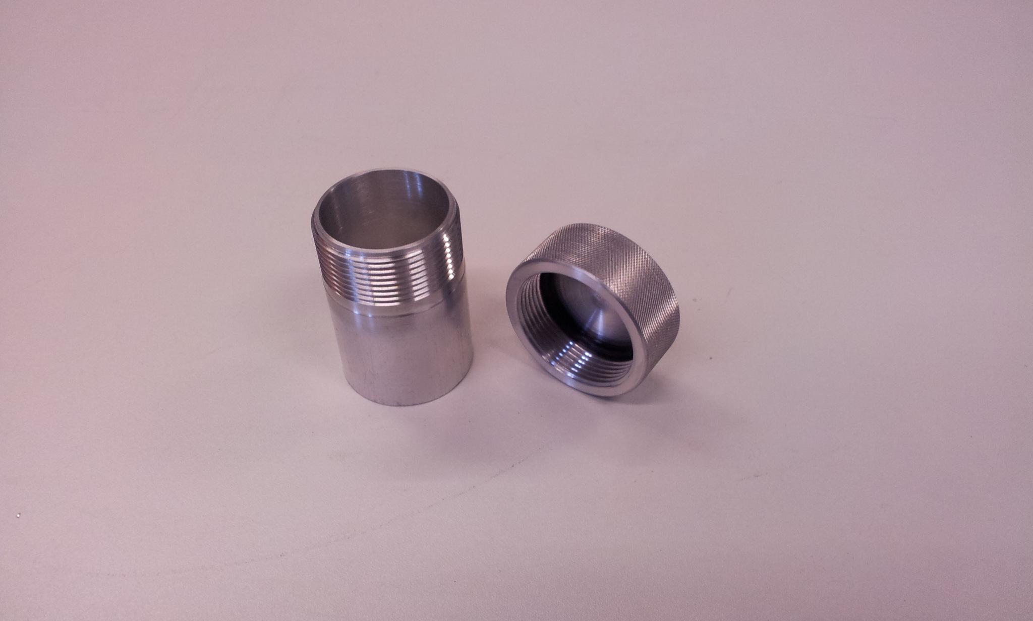 Tankdop aluminium Ø 42 mm L= 70 mm ( stalen las nippel-0