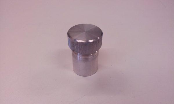 Tankdop aluminium Ø 42 mm L= 70 mm ( stalen las nippel-1337