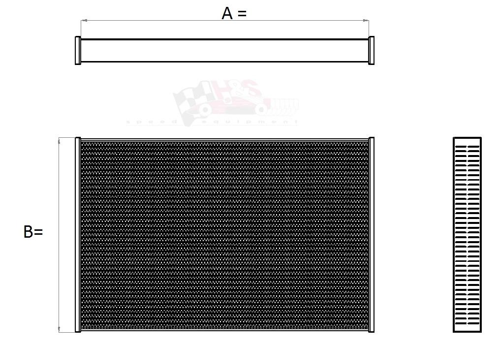 Aluminium koelblok tbv radiateur 560 x 488 x 43 mm ( autocross / rallycross )-0