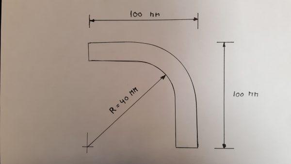 Aluminium bocht 90 graden 16 mm-1439