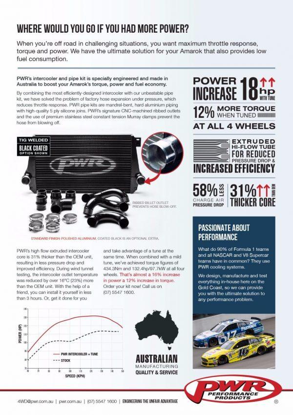 VW Amarok high performance PWR intercooler kit.-1605