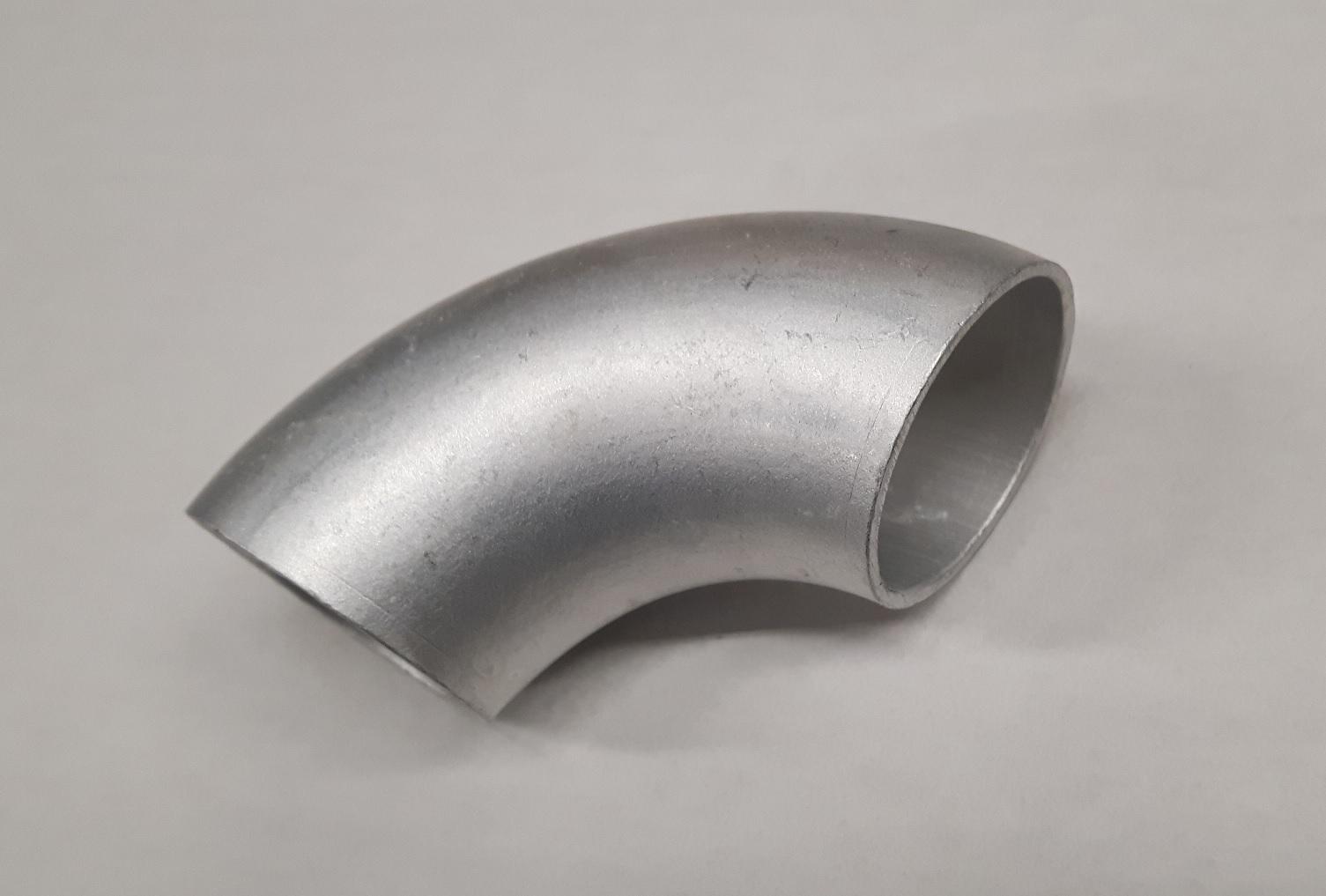 Aluminium lasbocht 90 graden 63,5 x 2 mm / kort-0
