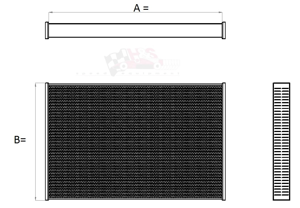Aluminium koelblok tbv Radiateur 260 x 530 x 56 mm ( autocross / rallycross )-0