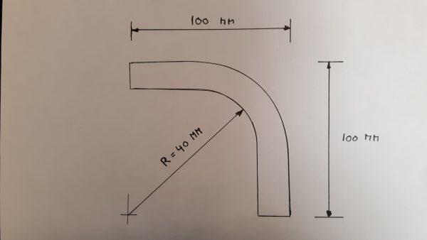 Aluminium bocht 90 graden 16 mm-2054